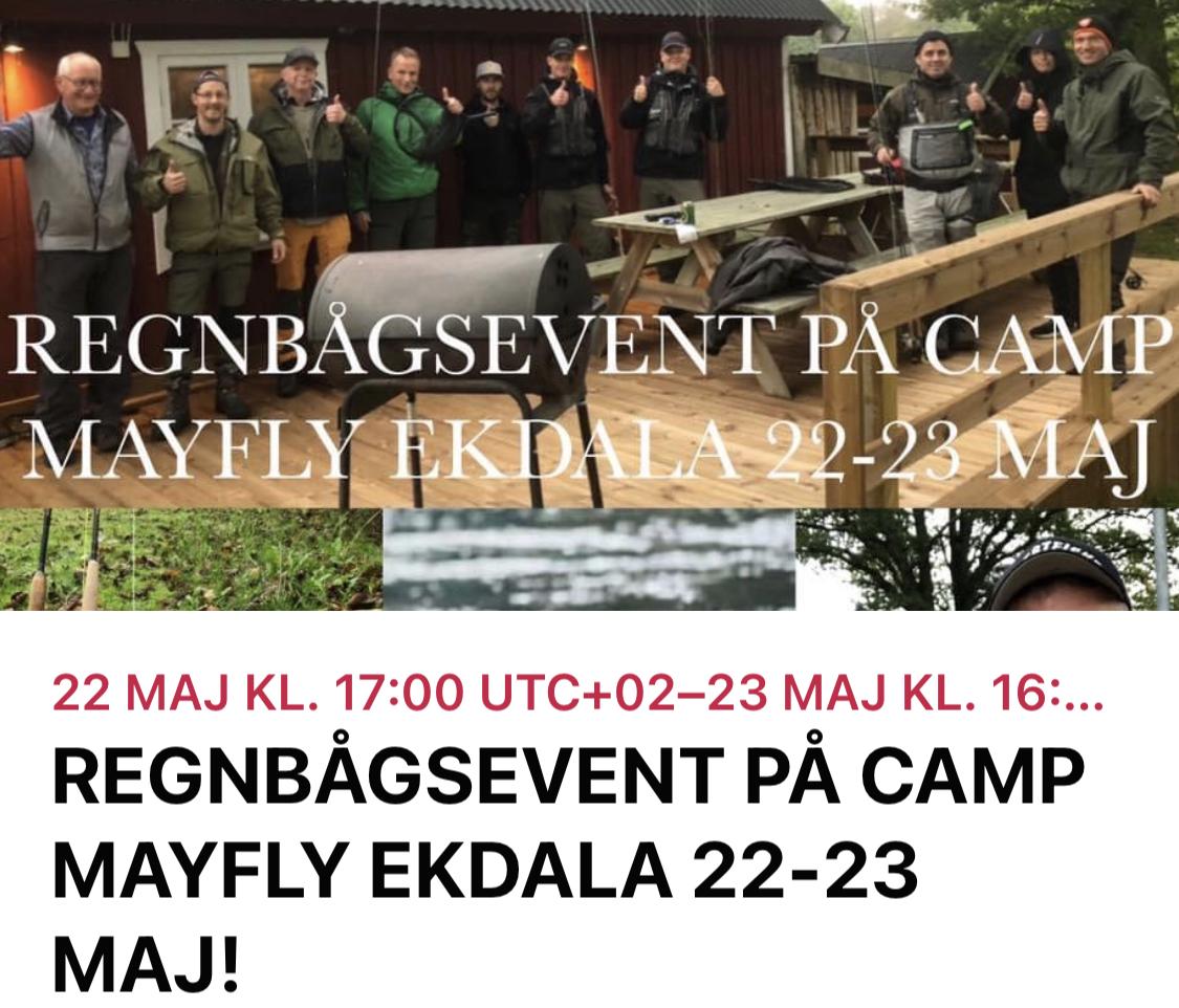 EXKLUSIVT REGNBÅGS EVENEMANG PÅ EKDALA/CAMP MAYFLY 22-23 Maj 2021,12 platser!