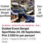 FISKE EVENT PÅ BERGET SPORTFISKE, 24 till den 26 September 2021